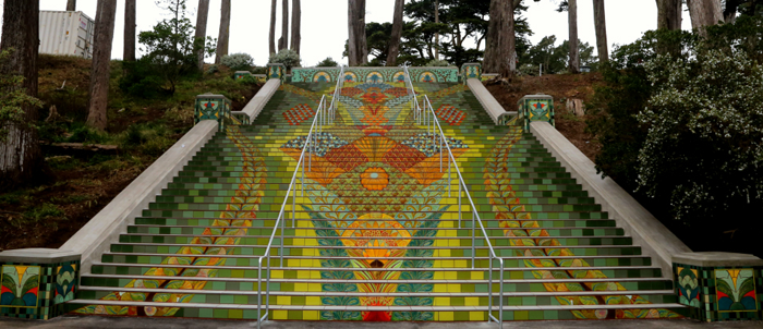 Elegant steps match S.F. vistas