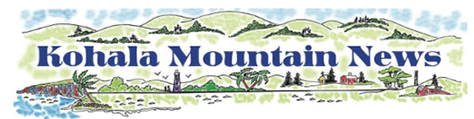 Masthead for Kohala Mountain News.