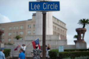 Lee Circle street sign, New Orleans