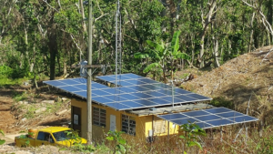 Solar array in Casa Pubela