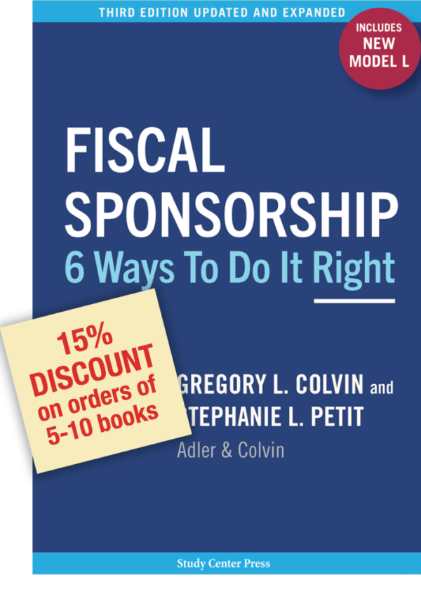 15% Discount on orders of Fiscal Sponsorship 6 Waysf 5-10